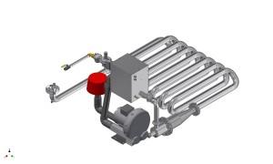 Kompakter Tauchrohrbrenner Standardmontage
